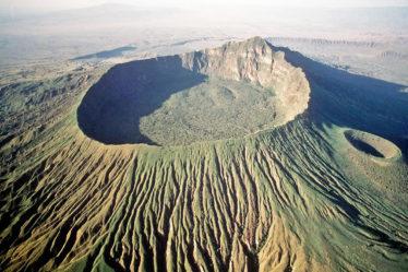 «яркие» потухшие кратеры вулканов